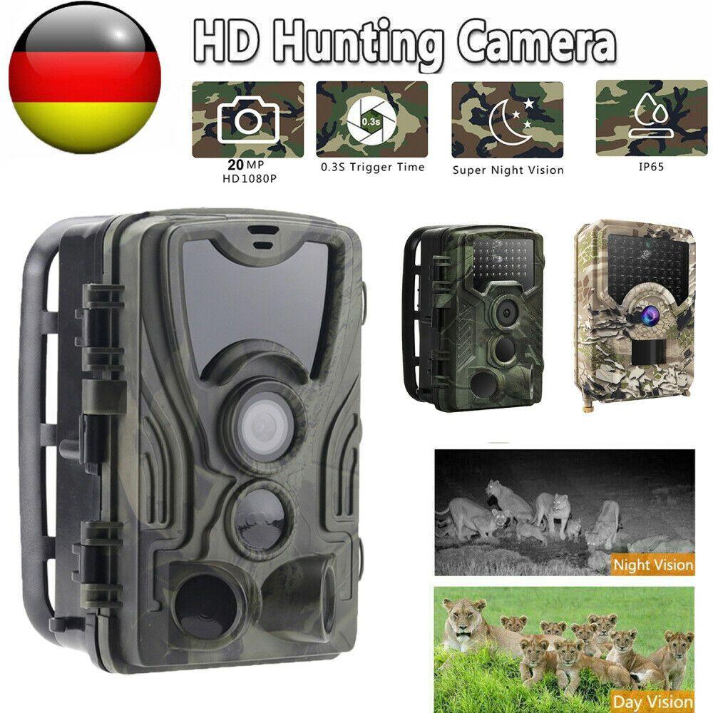 Wildkamera Überwachungskamera Full HD 720P 12MP Jagdkamera Fotofalle IP56 120°