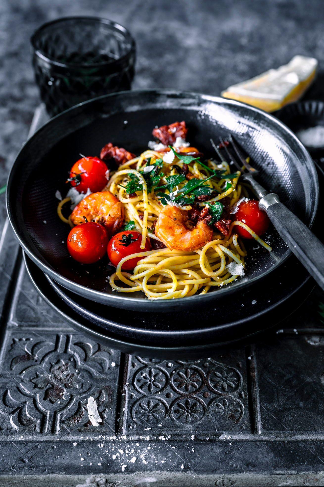 Spaghetti Surf & Turf! Sommer Pasta deluxe in 20 Minuten