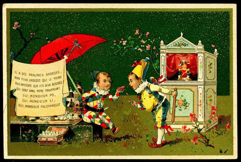 French Tradecard Punch & Harlequin 6