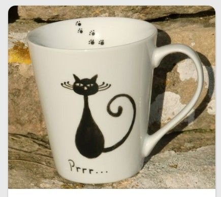 DIY Coffee Mug - Draw with Sharpie then bake in the oven