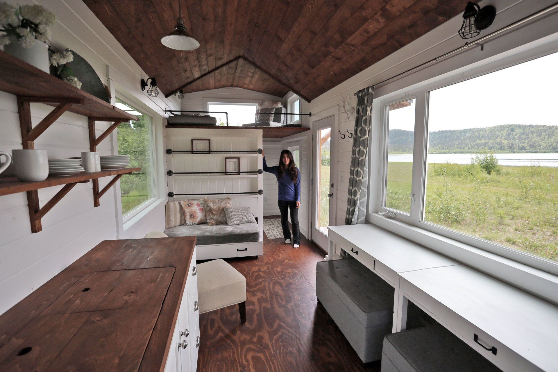 Beautiful 24 Foot Tiny House Tour with Free Plans: Ana White Tiny House ...