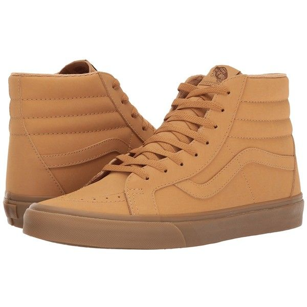 32ae9b6adf6262 Vans SK8-Hi Reissue ((Vansbuck) Light Gum Mono) Skate Shoes ( 70) ❤ liked  on Polyvore featuring shoes