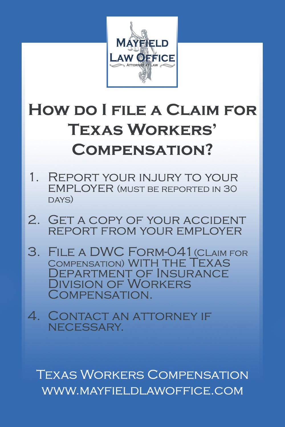 Filing a texas workers compensation claim with images