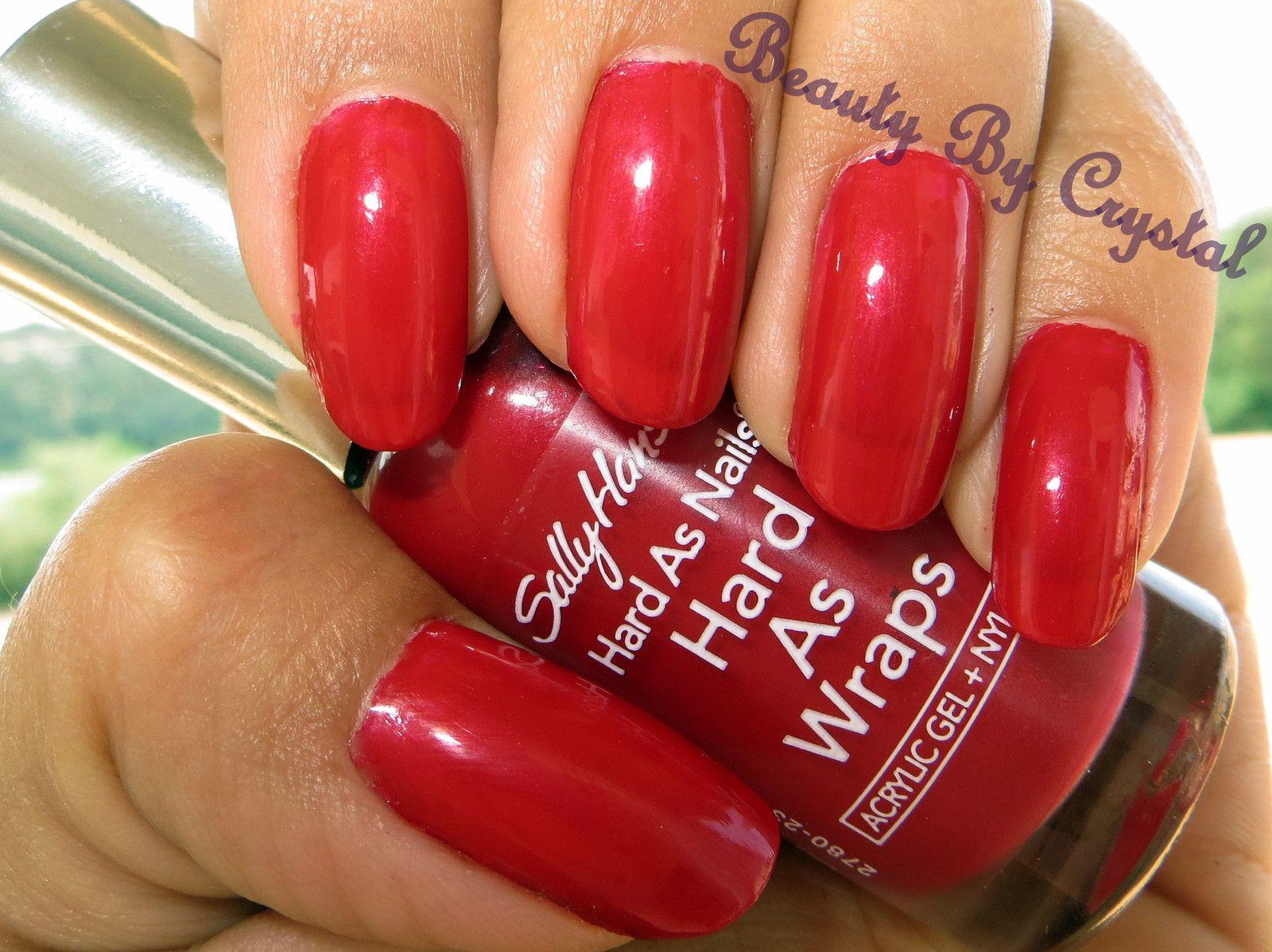 Sally Hansen Hard As Nails Polish- ROYAL RED CREME. The ...