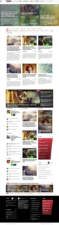 Steam - Responsive Retina Review Magazine Theme • Download ➝…