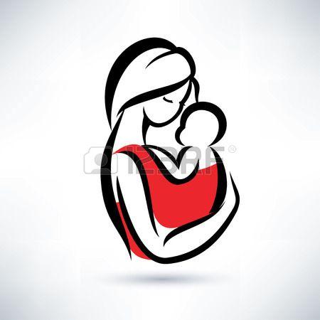 Mama Y El Bebe Vector Simbolo Dibujo Para Mama Bebe Vector Padre E Hijo Dibujo
