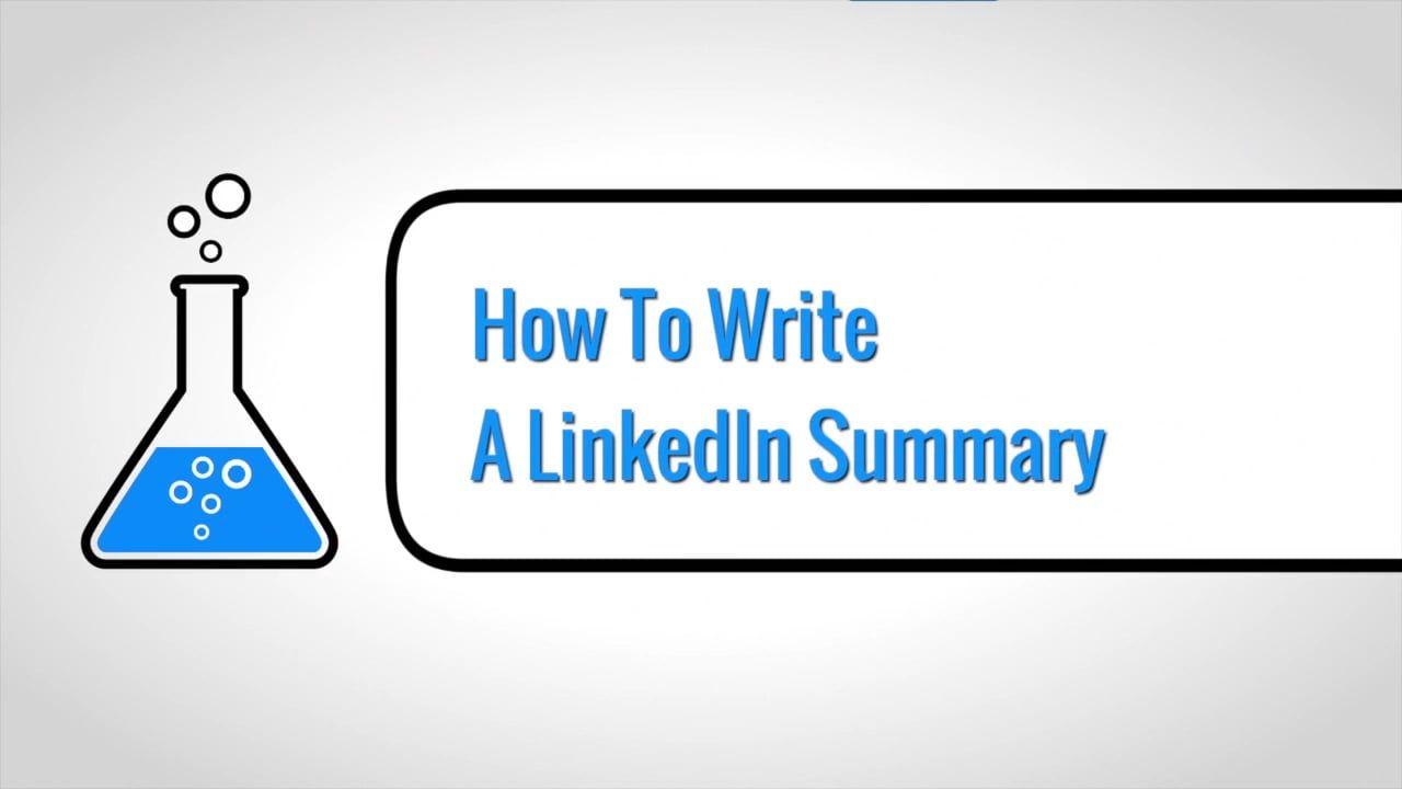 Linkedin lab how to write a linkedin summary linkedin