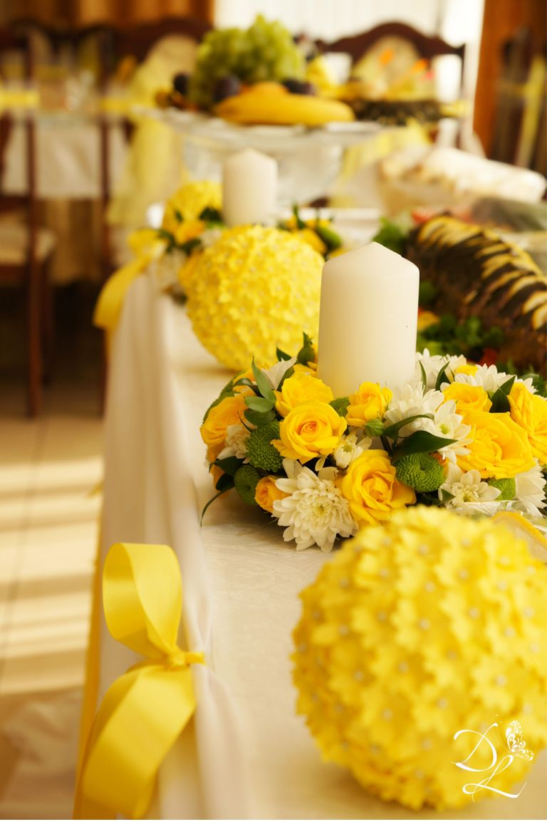 Яркая сине-жёлтая свадьба 12