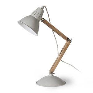 Lampe De Bureau En Chene Et Acier Blanc Casse Bermondsey Lampe De Bureau Bureau En Bois Et Metal Lampes De Table