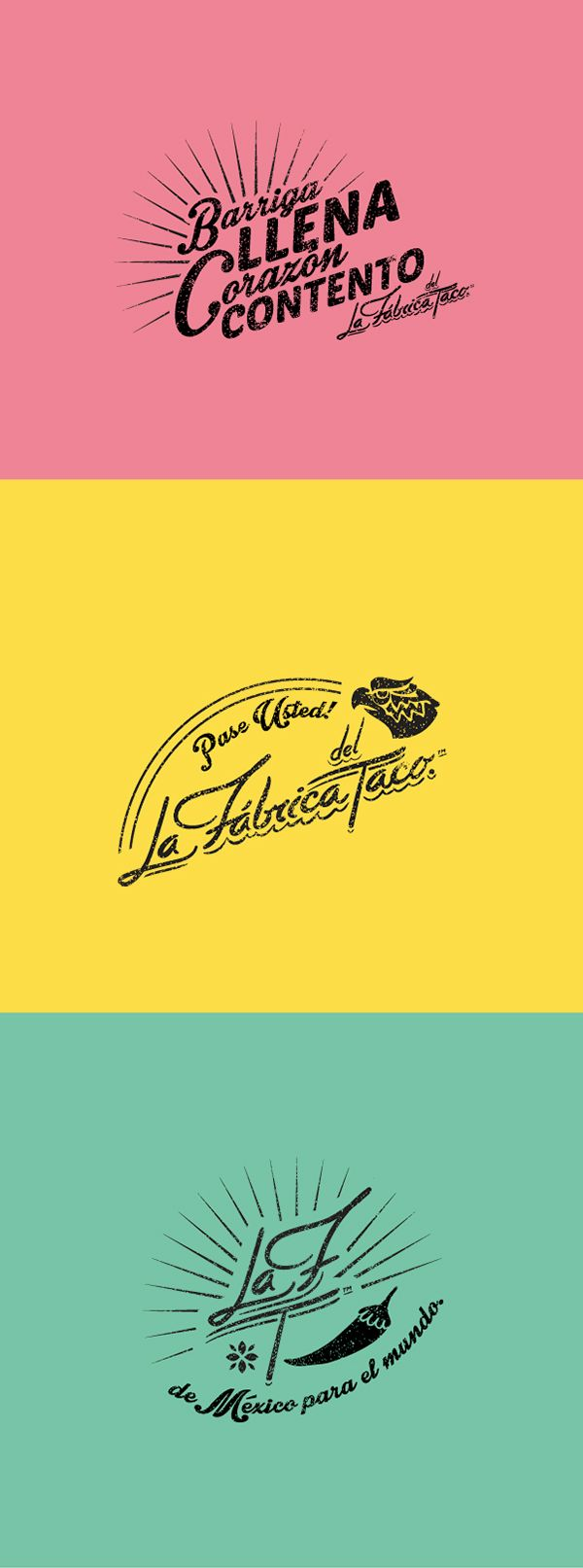 logo design for lunitas french food truck making empanadas logo la fabrica del taco on behance