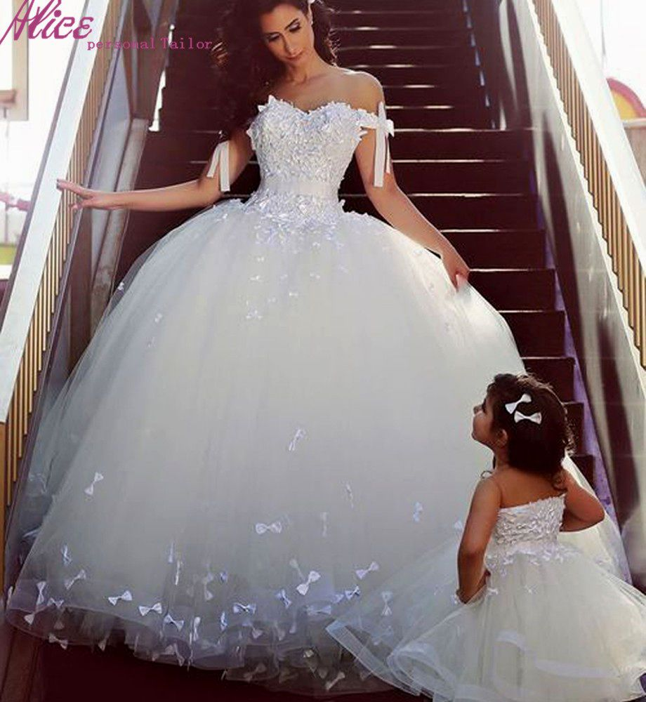 princess ball gown wedding dresses with bling (I can see my daughter ...