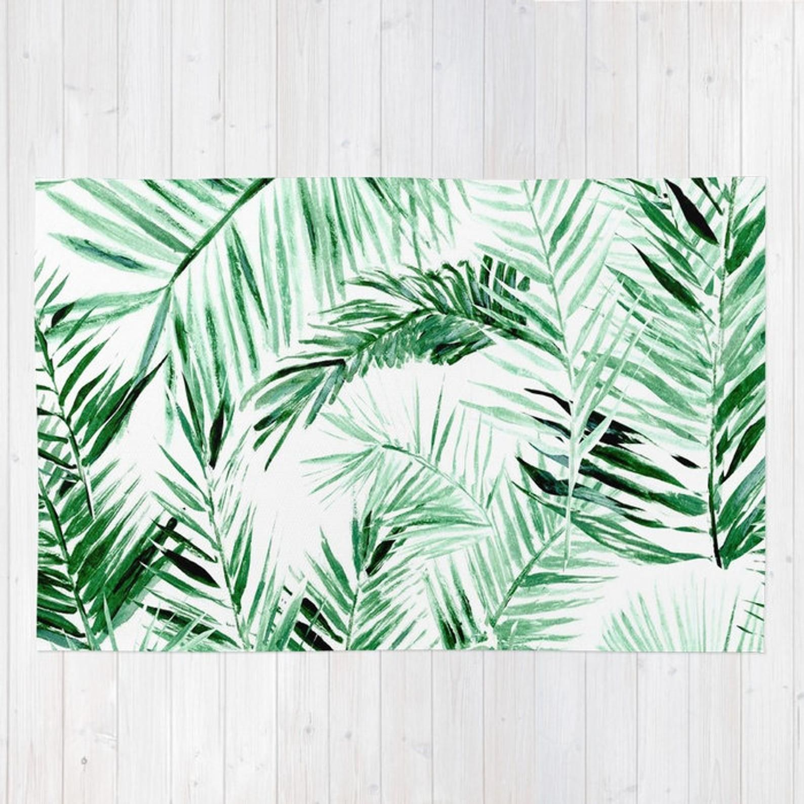 Palm Leaf Area Rug Leaves