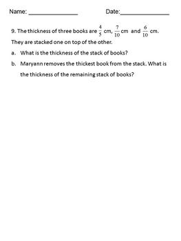 Fractions Word Problems Worksheets, Add and Subtract - 4th, 5th ...