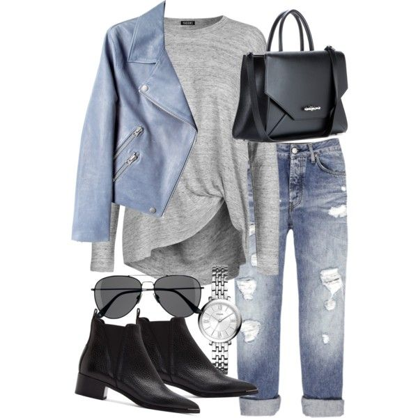 Untitled #17749 by florencia95 on Polyvore featuring 2nd Day, Acne Studios, Givenchy, FOSSIL, H&M and Annelise Michelson