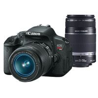 Canon EOS Rebel 18MP Digital SLR Camera Lens Bundle Kit (REBELT4IPK)