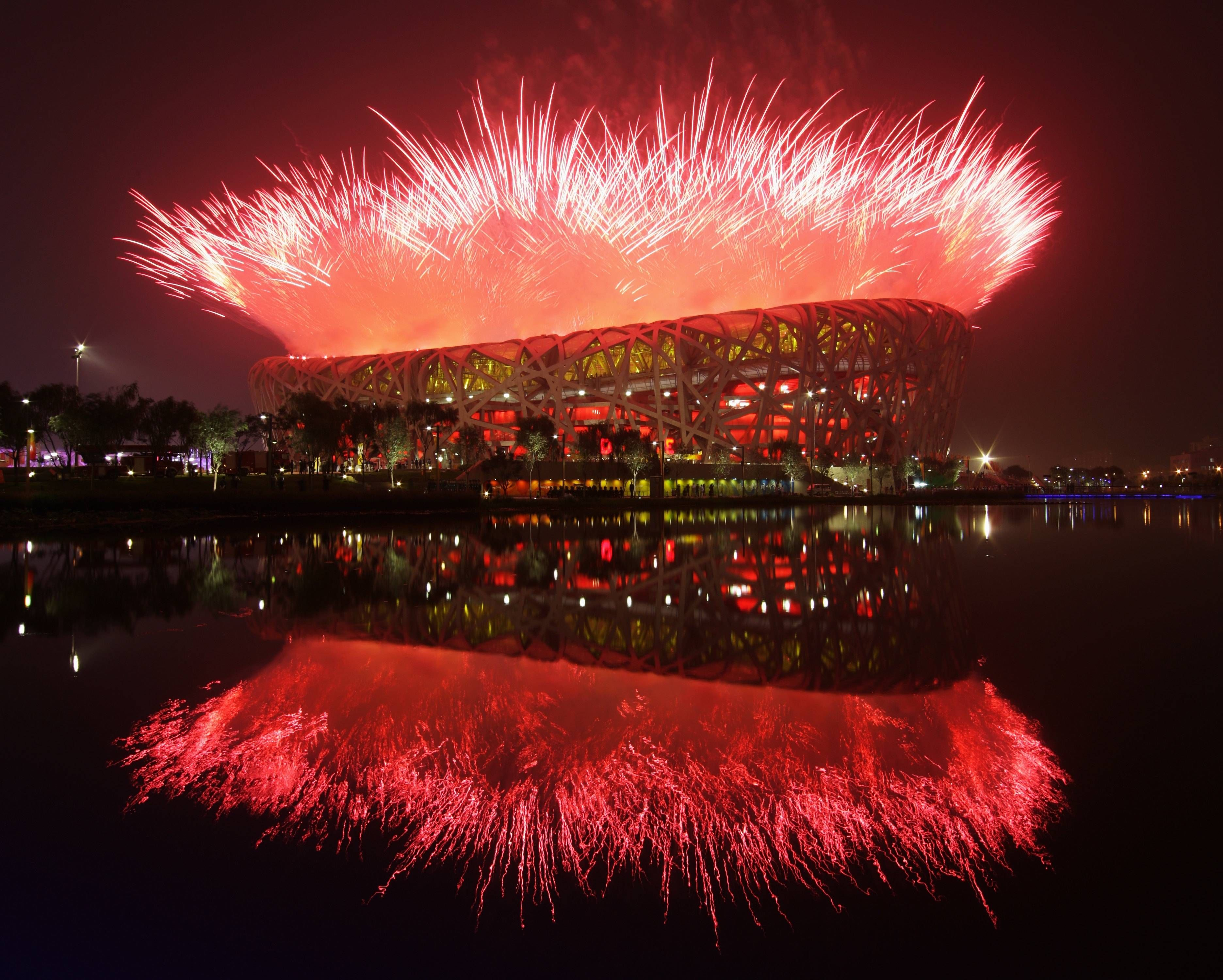 The Chinese National Stadium In Beijing The Bird S Nest Stadium Homesthetics Inspiring Ideas For Your Home Fireworks Photography Olympics Opening Ceremony Fireworks