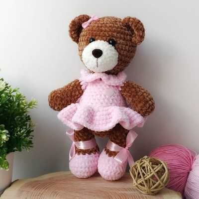 Sweet bear crochet plush pattern | Amiguroom Toys