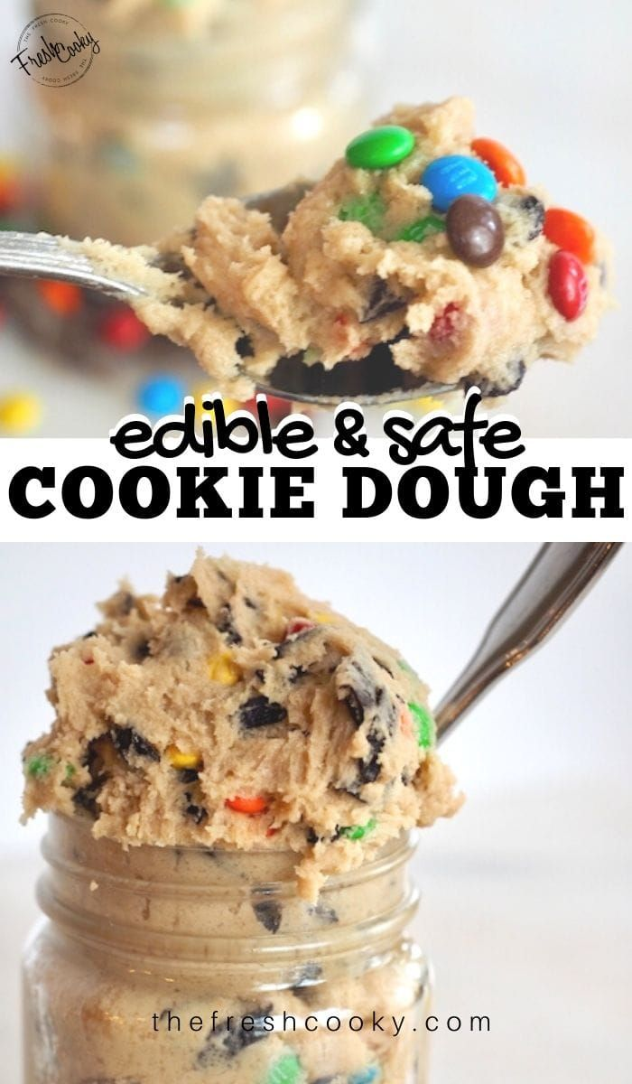 Safe to Eat Raw Chocolate Chip Cookie Dough