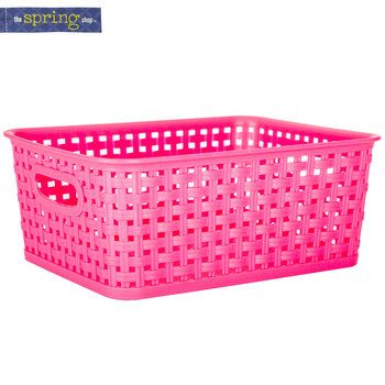 Pink Plastic Laundry Basket Custom Pink Woven Plastic Basket  Small  Shoppinghobby Lobby  Pinterest Inspiration Design