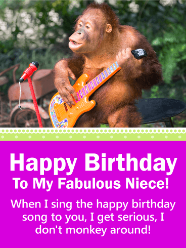 Funny Birthday Card For Niece Give Your A Good Laugh On Her With This Colorful Happy Everyone Should Have The