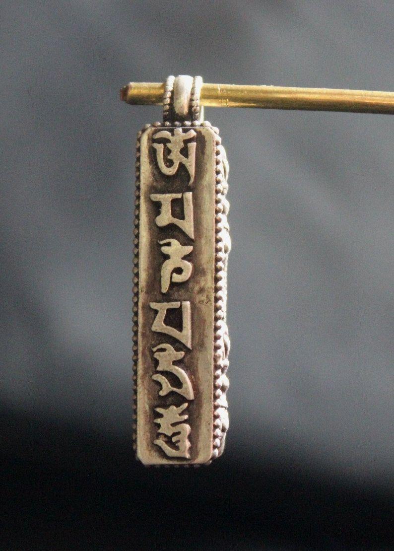 925 sterling silver tibetan ghau prayer box pendant handmade in nepal aloadofball Gallery