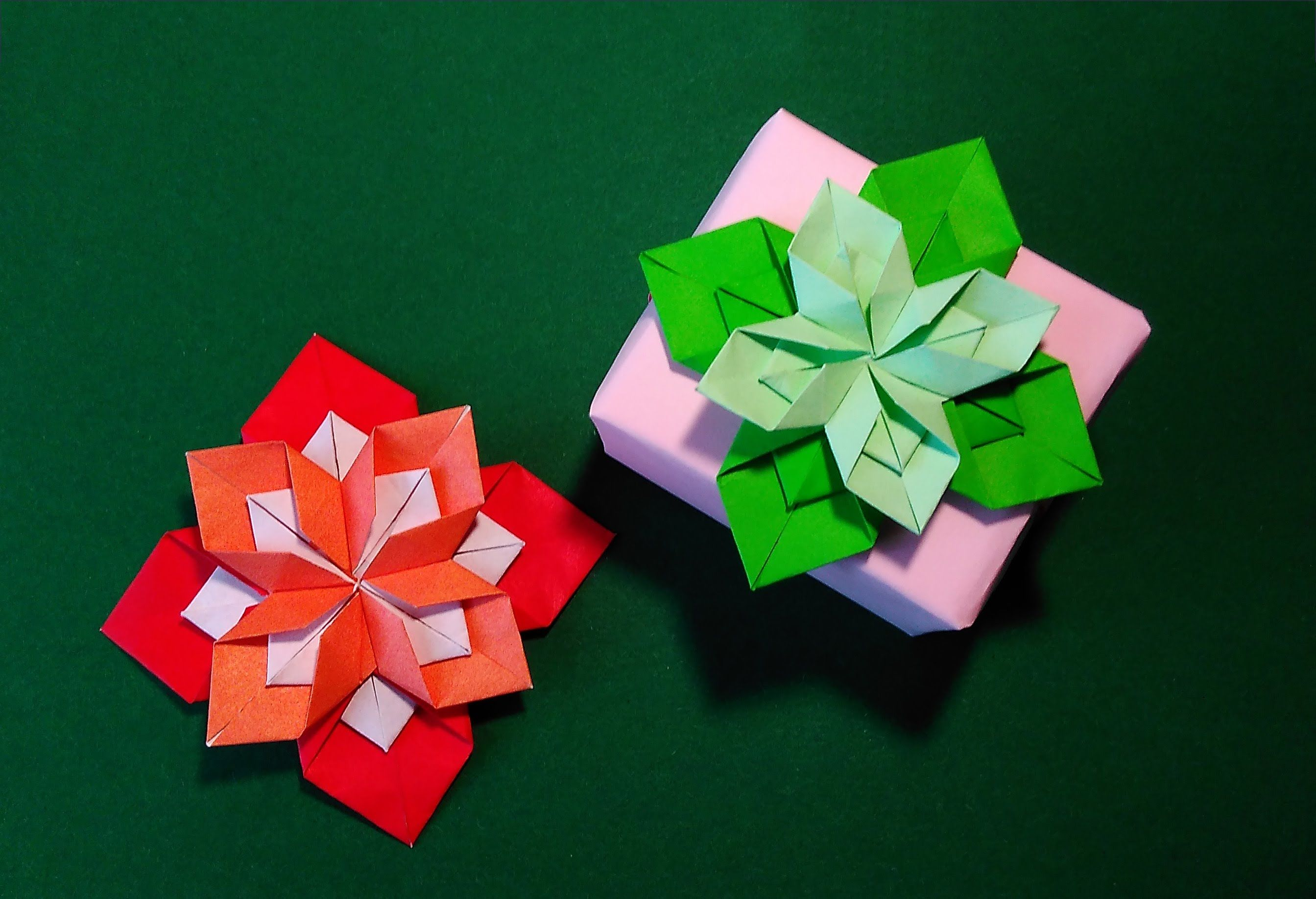 Origami Flower Gift Box Decorating Ideas