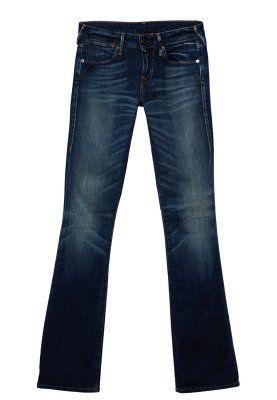 GINA - Bootcut jeans - blå