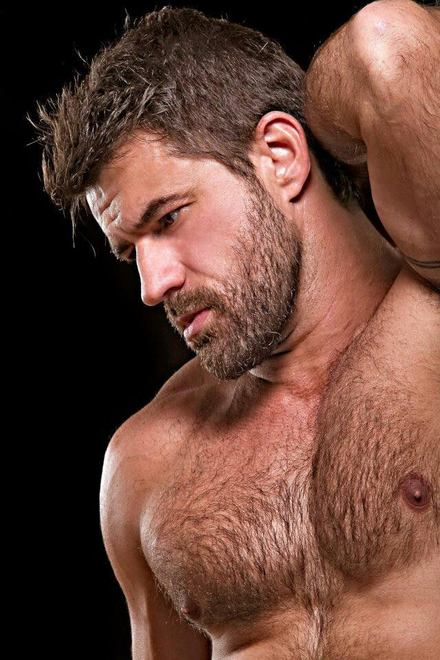 Hairy hot hung man