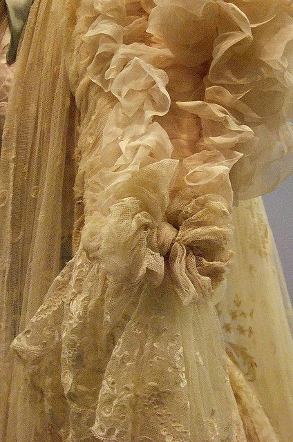 Detail from tea gown about 1900 Paris | Flickr - Photo Sharing!