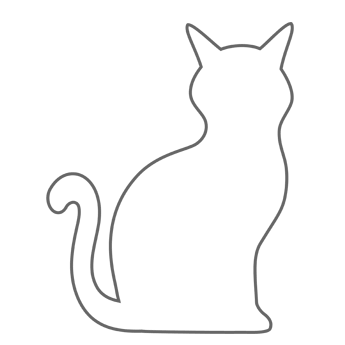 image about Cat Stencil Printable known as free of charge printable CAT/ KITTEN styles - - Picture