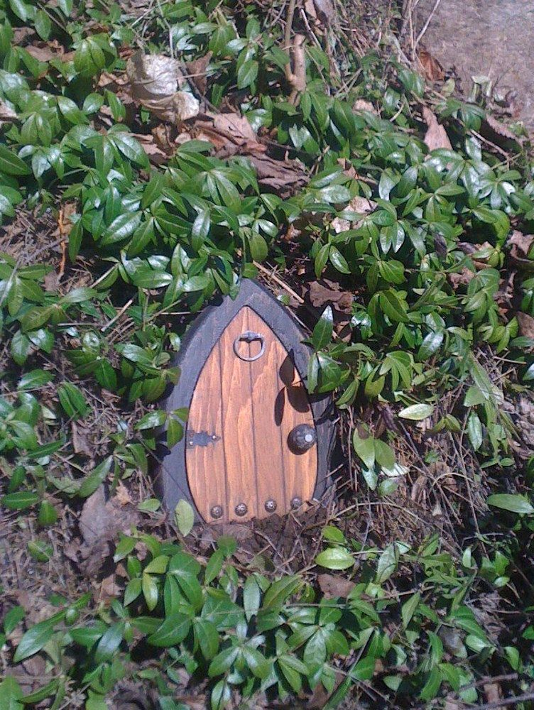 Gnome doors Fairy Doors Faerie Doors Elf Doors 9 by NothinButWood & You could put these little doors anywhere to make a fairy home ...
