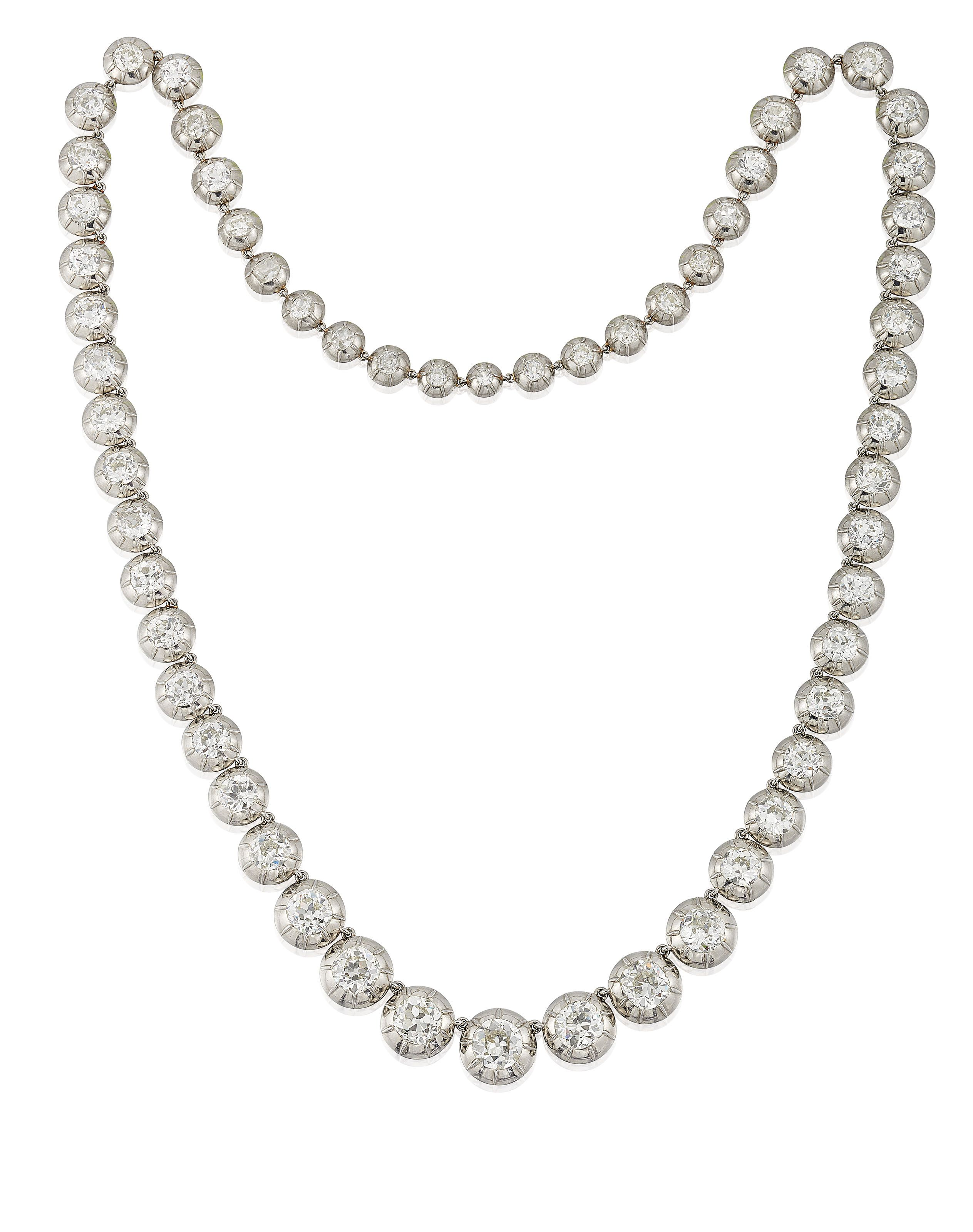 0cc4d759094 IMPRESSIVE EARLY 20TH CENTURY DIAMOND NECKLACE