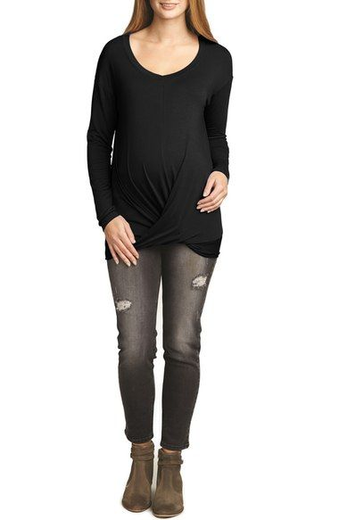 The Urban Ma Draped Maternity Tunic available at #Nordstrom