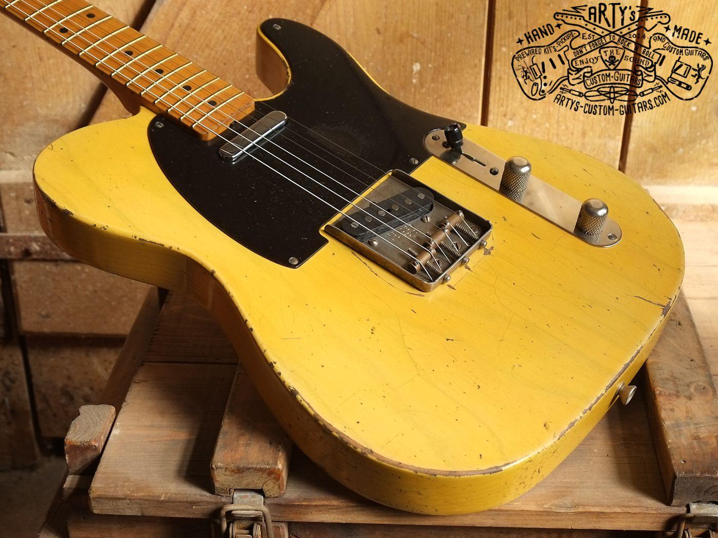 Broadcaster 1950 Arty S Relic Repro Nocaster Blackguard Tele Telecaster Www Artys Custom Guitars Com Fender Vintage Guitar Vintage Bakelite