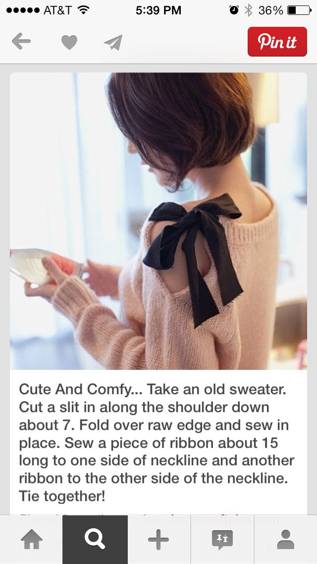 Great idea for all my old sweaters!