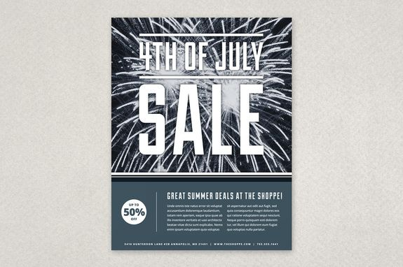 4th Of July Flyer Template Description With Festive Fireworks