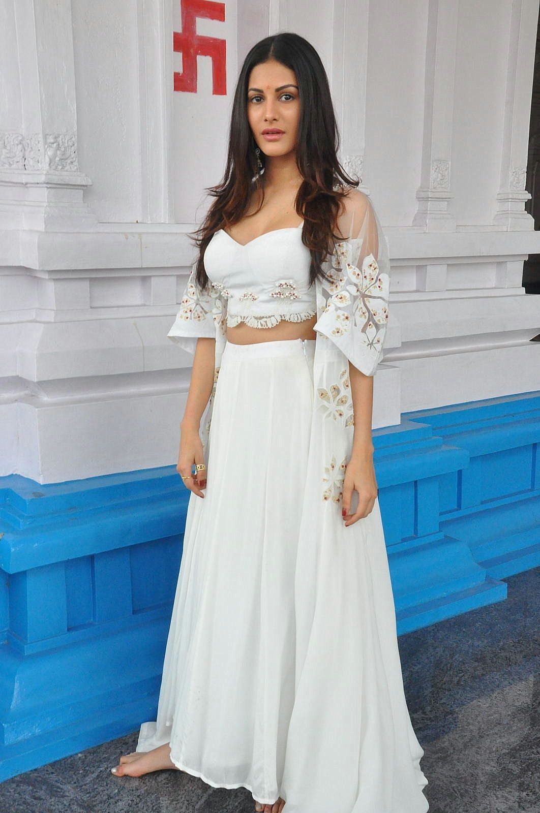 Amyra Dastur Looks Super Hot In A Revealing White Dress At Anandi Indira Production Llp No 1 Opening Event Hyderabad Click Here To See More
