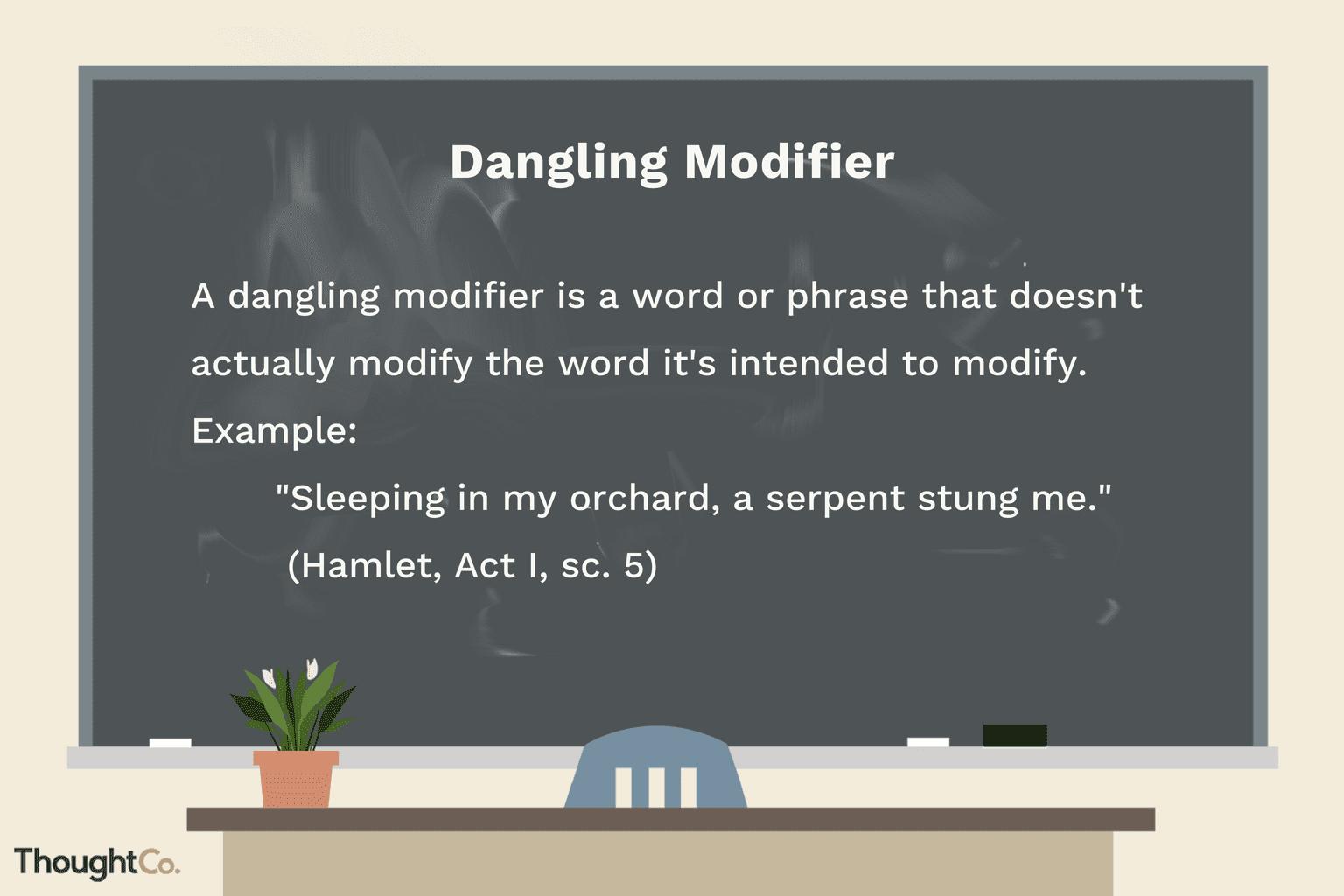 Grammatical Bloopers Dangling Modifiers