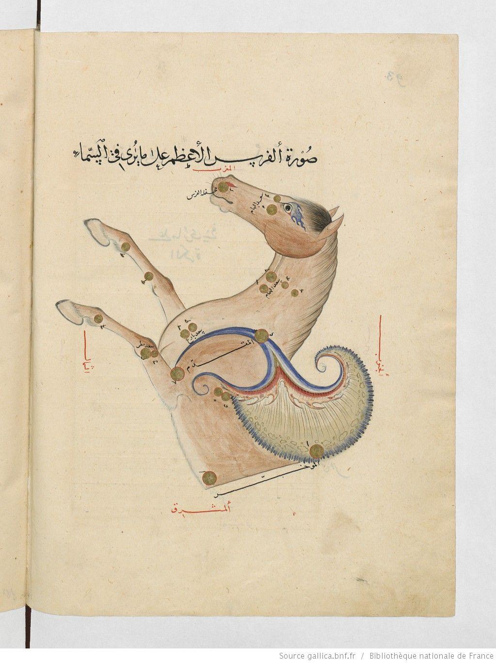 عبد الرحمن بن عمر الصوفي كتاب صور الكواكب الثابتة Bnf Manuscrit