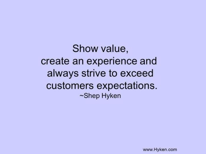 Work Quotes : We value every customer we come into contact
