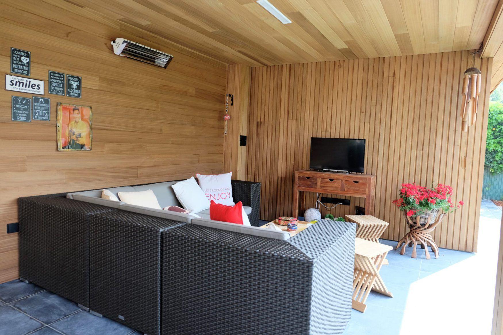 vanhauwood modern bijgebouw carport 2 overdekte zitplaats