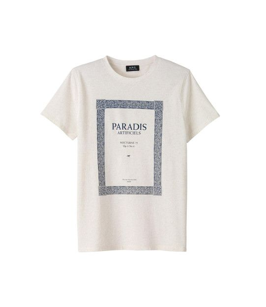 Paradis' T-shirt - Ecru chiné - A.P.C. MEN ($50-100) - Svpply