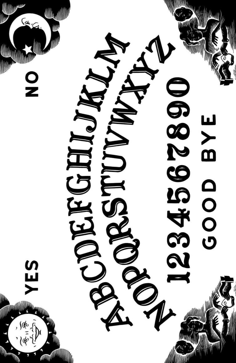 Ouija Board Halloween Fonts Spirit Board Ouija