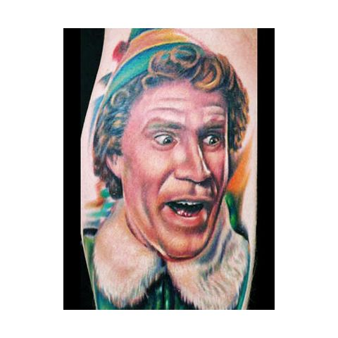 The Best Christmas Themed Tattoos Elf Tattoo Weird Tattoos Christmas Tattoo
