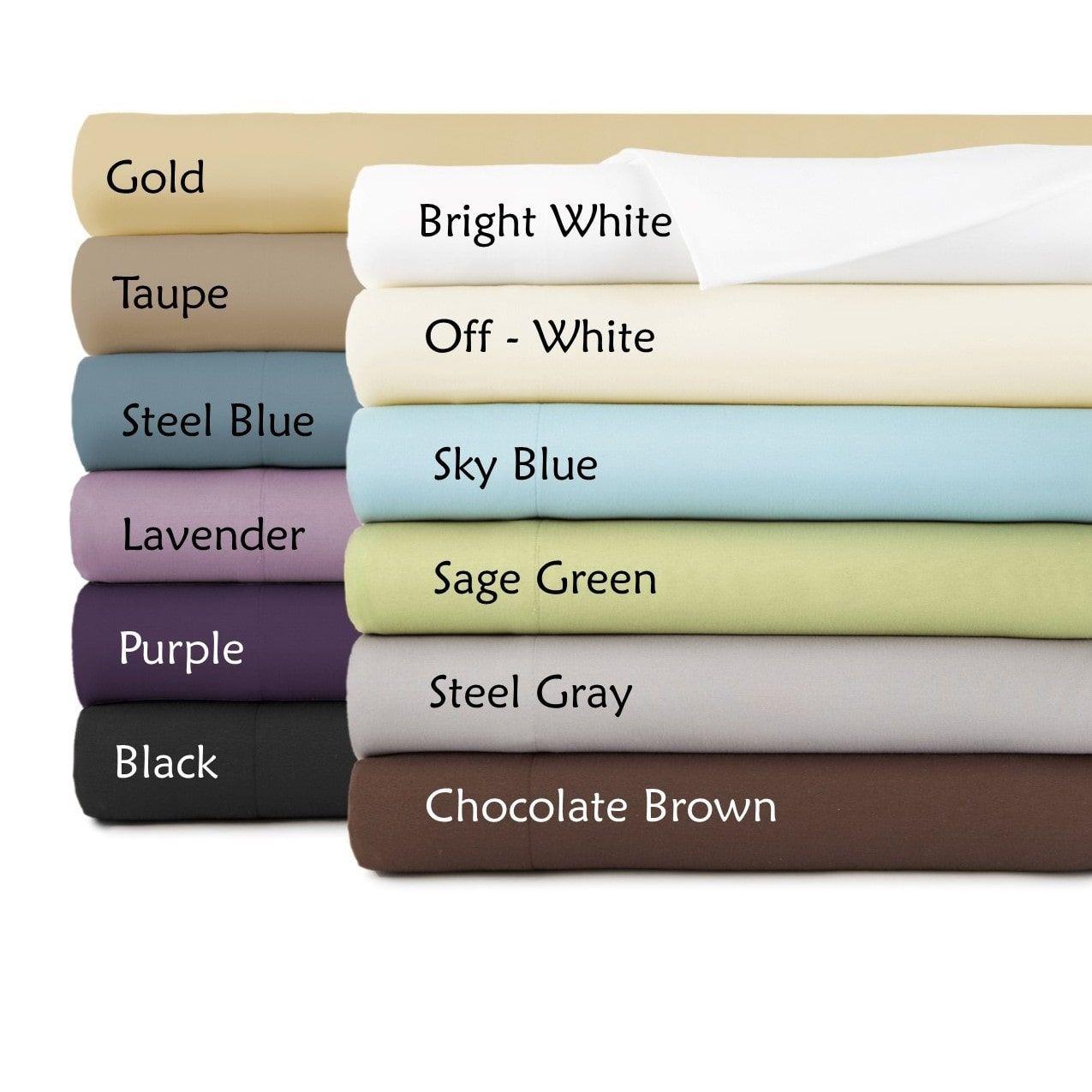 SouthShore Fine Linens Oversized KingSized Flat Sheet in