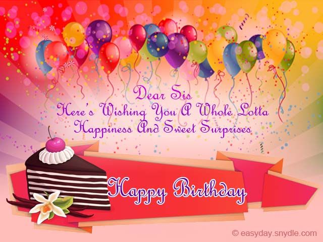 Birthday Wishes for Sister – Birthday Greeting Sister