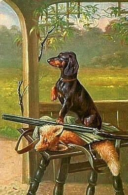 Rybalka Ohota Delayu Raspechatki Vintage Dachshund Dachshund Art Dachshund Dog