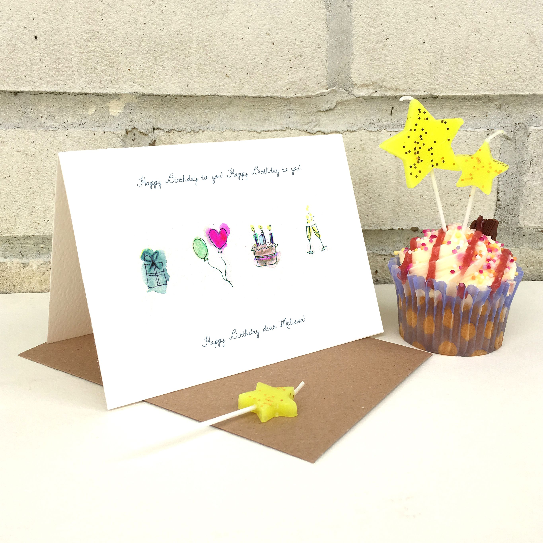 Personalisedillustratedbirthdaycard 395 Personalised