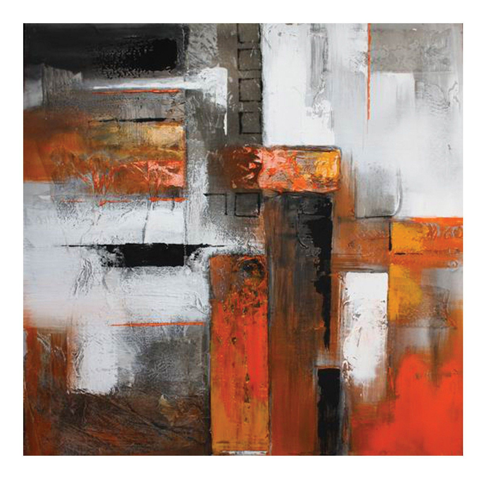 Orange Abstract I Painting Print on Canvas | Pinterest | Abstracto ...