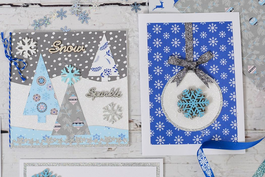 Paper Craft Christmas Card Ideas Part - 26: How To Make A Winter Trees Christmas Card
